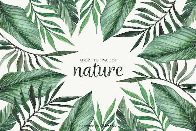 Природа фон с цитатой