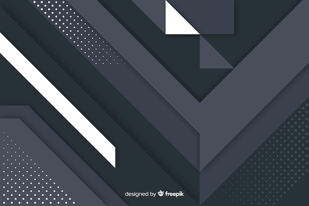幾何学的図形と抽象的な暗い背景