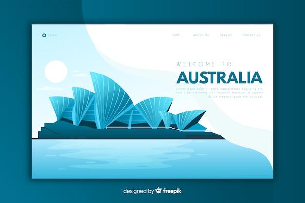 Добро пожаловать на целевую страницу австралии