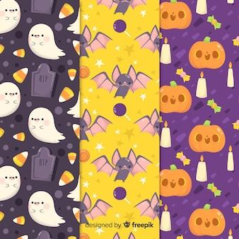 Плоский дизайн коллекции хэллоуин