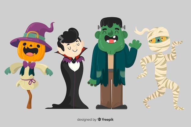 Коллекция рисованной хэллоуин