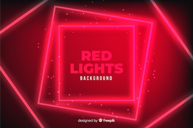 幾何学的な赤いライトの背景