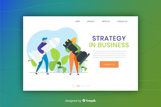 事業戦略のランディングページ