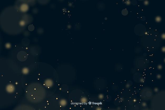 背景のボケ味の黄金の粒子