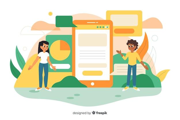 Концепция мобильных приложений для целевой страницы