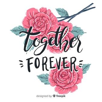 Романтическое послание с цветами