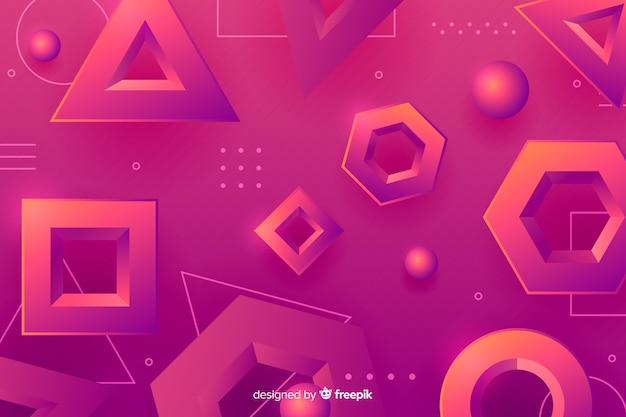 グラデーションの幾何学的図形の背景