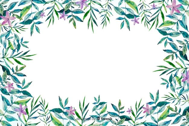 水彩花のフレームの背景