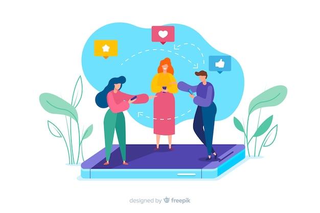 友達を紹介するアプリ