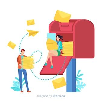 Концепция почтового ящика для целевой страницы