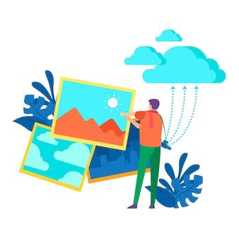Концепция загрузки изображений для целевой страницы