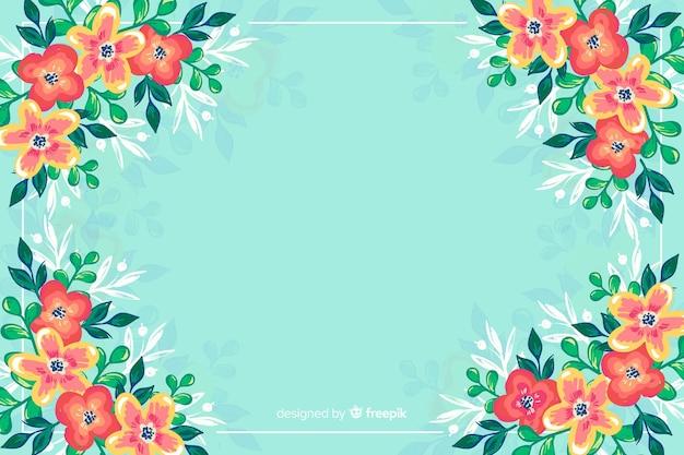 Красочные нарисованные цветы фон