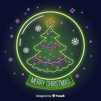 Неоновый рождественский фон