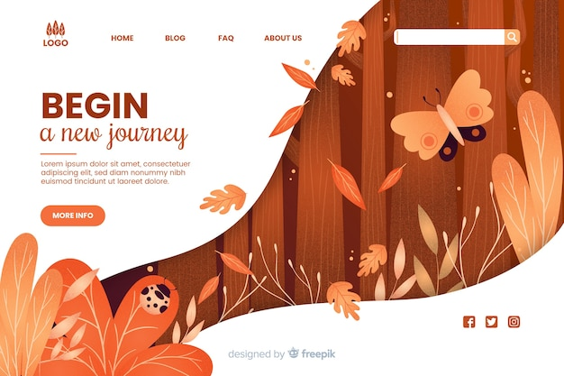 Начните новый веб-шаблон путешествия