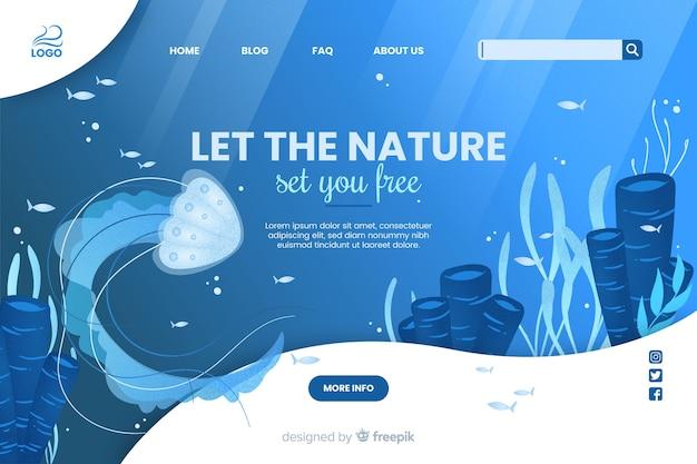 自然があなたに無料のウェブテンプレートを設定させます