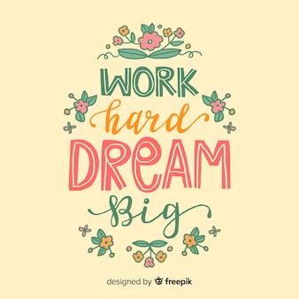 Мотивационная цитата на фоне персика