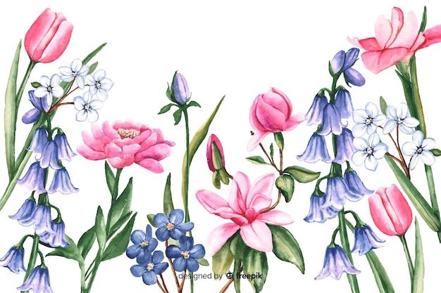 Акварель старинный цветочный фон
