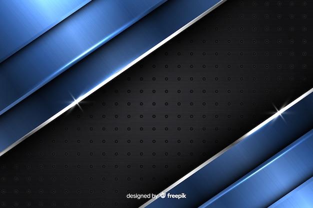 モダンな抽象的なメタリックブルーの背景デザイン