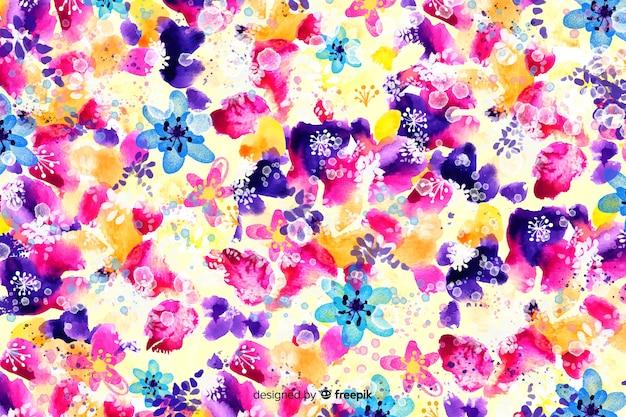 水彩画の抽象的な花の背景