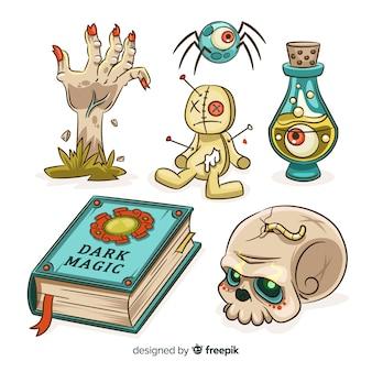 手描きハロウィーン要素コレクション