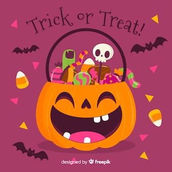 Ручной обращается хэллоуин счастливая тыква сумка