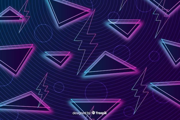 三角形のヴィンテージの幾何学的な背景