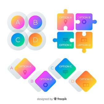 Геометрический набор инфографических элементов