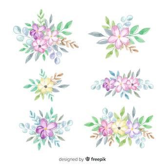 水彩花の花束コレクション