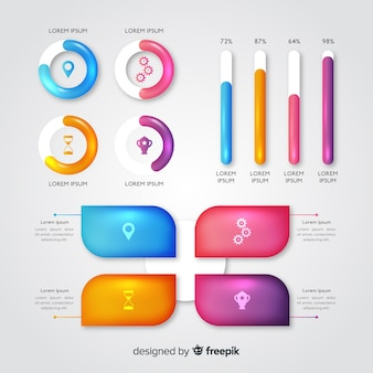 Шаблон эволюции глянцевый инфографики