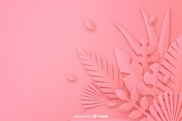 Монохромный розовый фон листья