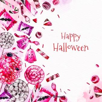 Красочная акварель фон хэллоуин