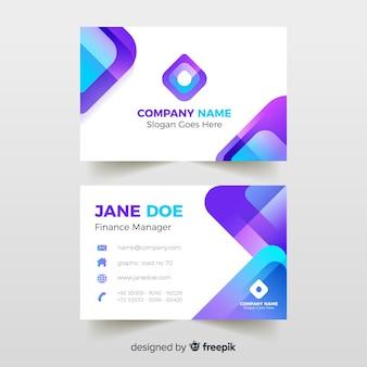 Визитная карточка с абстрактным дизайном шаблона