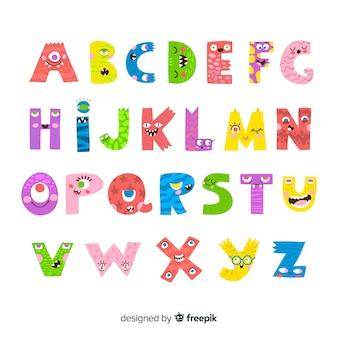 Хэллоуин монстр алфавит