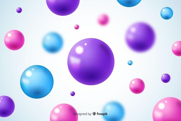 流れる光沢のあるボールの背景