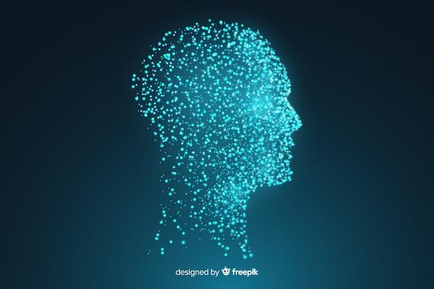 現代の粒子の顔の背景