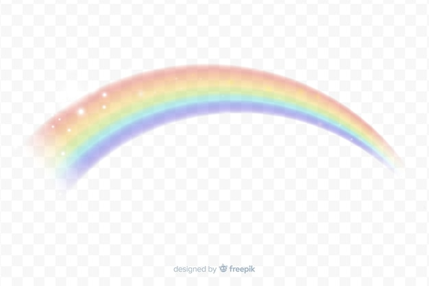 現実的な虹のアーチの背景