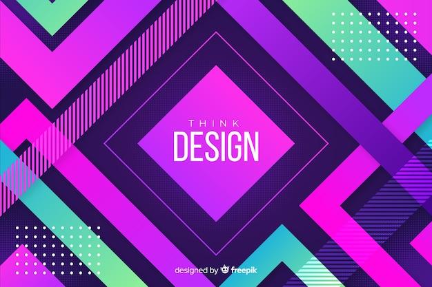 Красочный градиент геометрических моделей фона