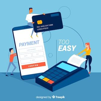 クレジットカード支払いのランディングページのコンセプト