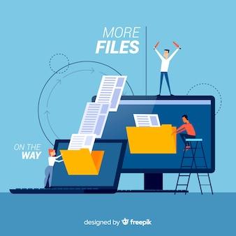 Целевая страница передачи файлов концепции