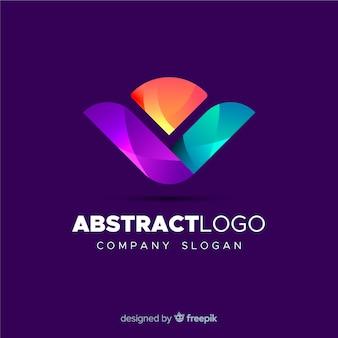 カラフルな抽象的なロゴのテンプレート