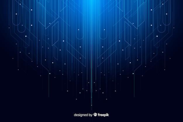 技術粒子の抽象的な背景