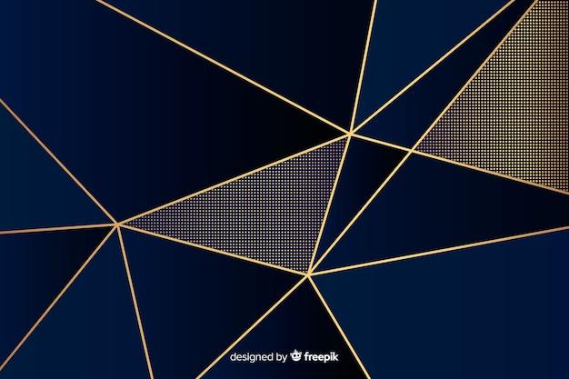 豪華な暗い多角形の背景