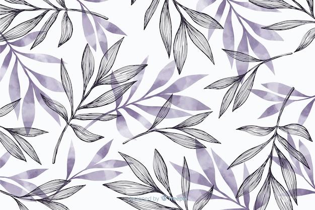 Простой фон с серыми листьями