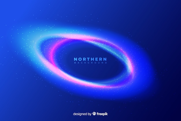 Фон красочное северное сияние