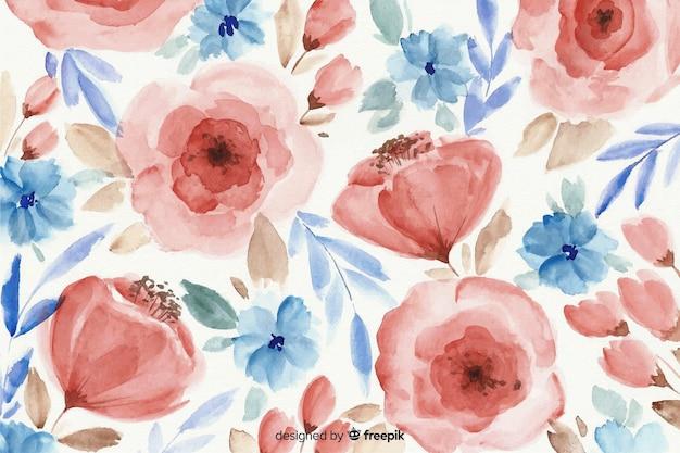 Красочный акварельный цветочный фон
