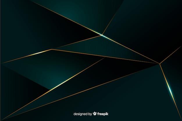 Роскошный темный многоугольный фон