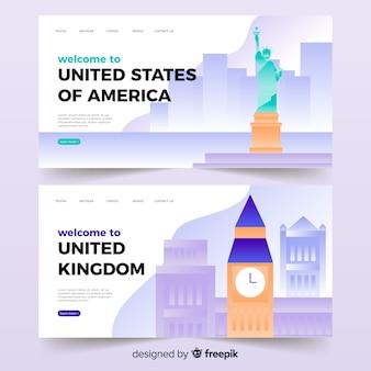 米国/英国のランディングページへようこそ