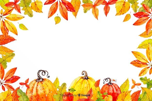 水彩画背景と感謝祭のコンセプト