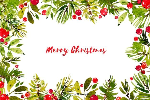 Рождественская концепция с акварельным фоном