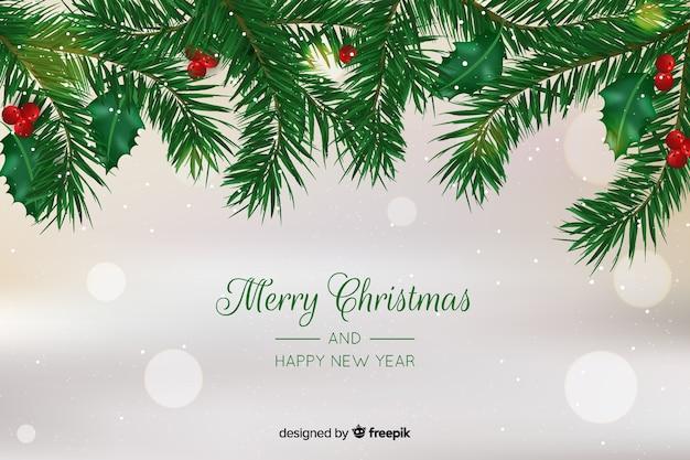 現実的な背景を持つクリスマスコンセプト